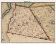 Georgia, Vermont 1857 Old Town Map Custom Print - Franklin Co.