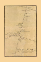 Georgia Centre, Vermont 1857 Old Town Map Custom Print - Franklin Co.