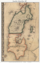 Grand Isle and South Hero, Vermont 1857 Old Town Map Custom Print - Franklin Co.