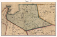 Highgate, Vermont 1857 Old Town Map Custom Print - Franklin Co.