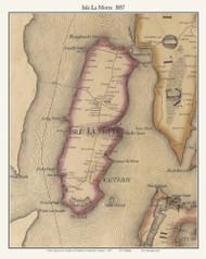 Isle La Motte , Vermont 1857 Old Town Map Custom Print - Franklin Co.