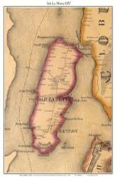 Isle La Motte Close, Tall, Vermont 1857 Old Town Map Custom Print - Franklin Co.