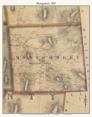 Montgomery, Vermont 1857 Old Town Map Custom Print - Franklin Co.