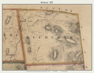 Richford, Vermont 1857 Old Town Map Custom Print - Franklin Co.
