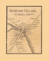 Richford Village, Vermont 1857 Old Town Map Custom Print - Franklin Co.