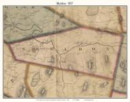 Sheldon, Vermont 1857 Old Town Map Custom Print - Franklin Co.