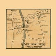 Sheldon Creek Village, Vermont 1857 Old Town Map Custom Print - Franklin Co.