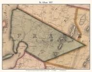 St. Albans, Vermont 1857 Old Town Map Custom Print - Franklin Co.