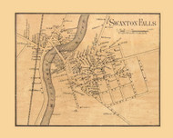 Swanton Falls Village, Vermont 1857 Old Town Map Custom Print - Franklin Co.