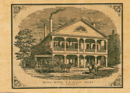 Bliss House, O.S. Bliss, Vermont 1857 Old Town Map Custom Print - Franklin Co.