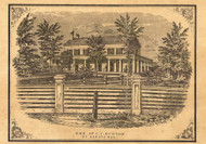 Residence of C.C. Burton, Vermont 1857 Old Town Map Custom Print - Franklin Co.