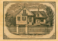 Residence of Thos. F. House, Vermont 1857 Old Town Map Custom Print - Franklin Co.