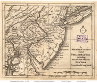 New Jersey 1776 Philadelphia - Old State Map Reprint