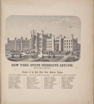 New York State Inebriate Asylum 3, New York 1866 - Old Town Map Reprint - Tompkins Co. Atlas