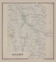 Danby 23, New York 1866 - Old Town Map Reprint - Tompkins Co. Atlas
