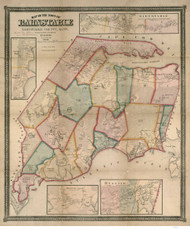 Barnstable 1856 - Old Map  Barnstable County - Massachusetts Cities Other