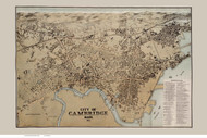 Cambridge 1877 - Old Map Reprint Middlesex County - Massachusetts Cities Other