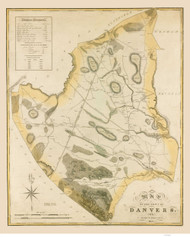 Danvers 1832 - Old Map  Essex County - Massachusetts Cities Other
