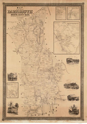 Dartmouth 1856 - Old Map  Bristol County - Massachusetts Cities Other