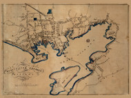 Gloucester 1854 - Old Map Reprint Essex County - Massachusetts Cities Other