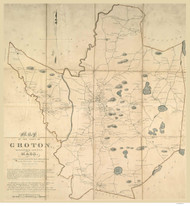 Groton 1831 - Old Map  Middlesex County - Massachusetts Cities Other
