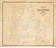 Hanover 1849 - Old Map  Plymouth County - Massachusetts Cities Other