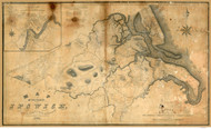 Ipswich 1832 - Old Map  Essex County - Massachusetts Cities Other