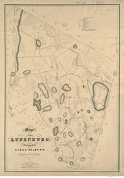 Lunenburg 1833 - Old Map  Worcester County - Massachusetts Cities Other