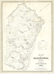Marshfield 1838 - Old Map  Plymouth County - Massachusetts Cities Other