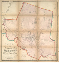 Medford 1855 - Old Map  Middlesex County - Massachusetts Cities Other