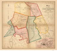 Northbridge 1849 - Old Map  Worcester County - Massachusetts Cities Other