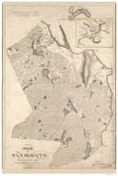 Plymouth 1830 - Old Map Reprint Plymouth County - Massachusetts Cities Other