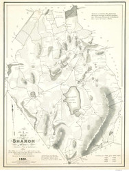 Sharon 1831 - Old Map  Norfolk County - Massachusetts Cities Other