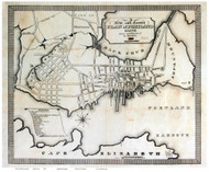 Portland 1823 Bowen - Old Map Reprint - Maine Cities Other