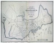 Portland 1837 Dearborn - Old Map Reprint - Maine Cities Other