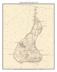 Block Island 1855 - Rhode Island 80,000 Scale Custom Chart