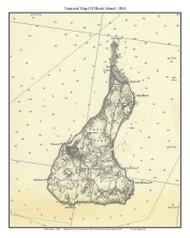 Block Island 1864 - Rhode Island 80,000 Scale Custom Chart