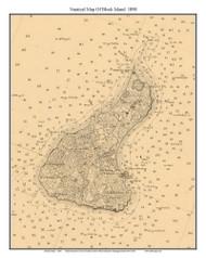 Block Island 1898 - Rhode Island 80,000 Scale Custom Chart