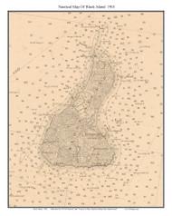 Block Island 1901 - Rhode Island 80,000 Scale Custom Chart