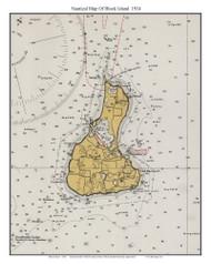 Block Island 1934 - Rhode Island 80,000 Scale Custom Chart