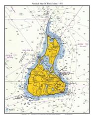 Block Island 1957 - Rhode Island 80,000 Scale Custom Chart