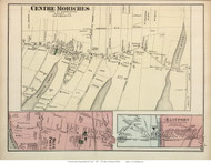 Centre Moriches, Eastport, and Blue Point Villages - Brookhaven, New York 1873 Old Town Map Reprint - Suffolk Co. (LI)