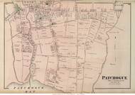 Patchogue Village - Brookhaven, New York 1873 Old Town Map Reprint - Suffolk Co. (LI)