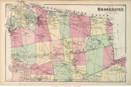 Brookhaven Town - Northern Part, New York 1873 Old Town Map Reprint - Suffolk Co. (LI)