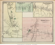 Yaphank, Millers Place, East Patchogue, and Brook Haven Villages - Brookhaven, New York 1873 Old Town Map Reprint - Suffolk Co. (LI)