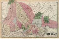 Brooklyn City, New York 1873 Old Town Map Reprint - Kings Co. (LI)