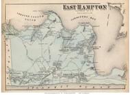 East Hampton, New York 1873 Old Town Map Reprint - Suffolk Co. (LI)