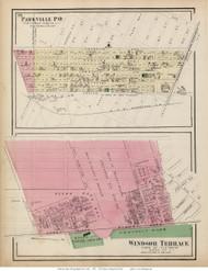 Parkville and Windsor Terrace Villages - Flatbush, New York 1873 Old Town Map Reprint - Kings Co. (LI)