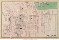 Flatbush Village, New York 1873 Old Town Map Reprint - Kings Co. (LI)