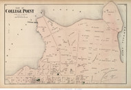 College Point (Northern Part) - Flushing, New York 1873 Old Town Map Reprint - Queens Co. (LI)